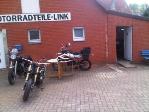 Ladezone bei Motorradteil Link