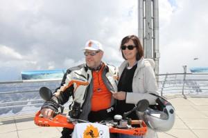 Mit meiner Frau am Ziel der DPS-Tour.