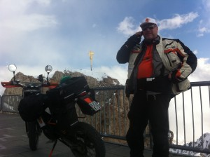 Angekommen am Gipfel der Zugspitze