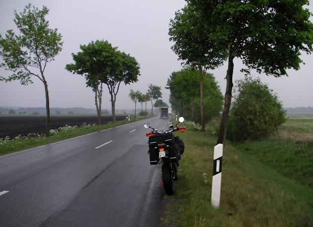 Heute Start im Regen