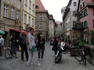 Gruppe scheuer Holländer in Bamberg